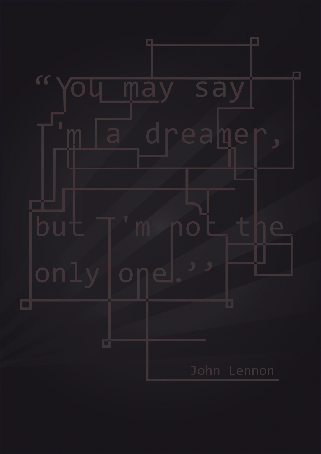 John Lennon Vintage Quote Poster