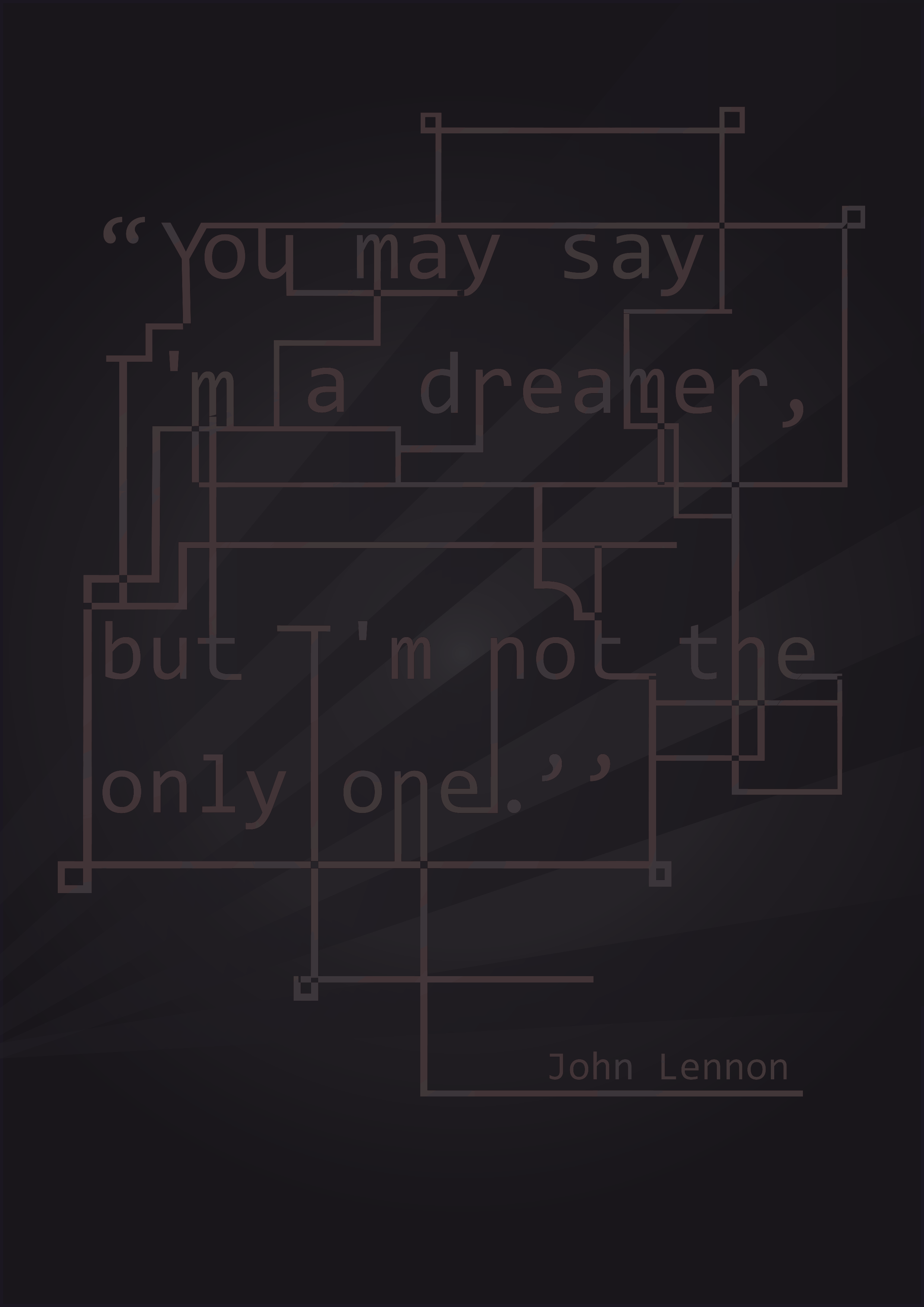 "John Lennon ~ ""I am a dreamer"" Vintage Quote Poster"